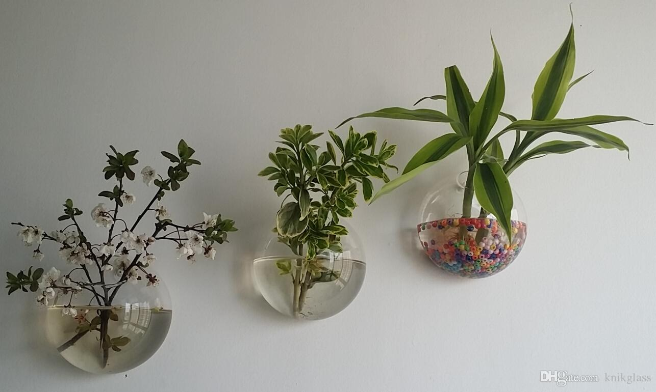 Wall Plant Decor 10cm/12cm/15cm wall glass planter vase,wall bubble terrariums,mini