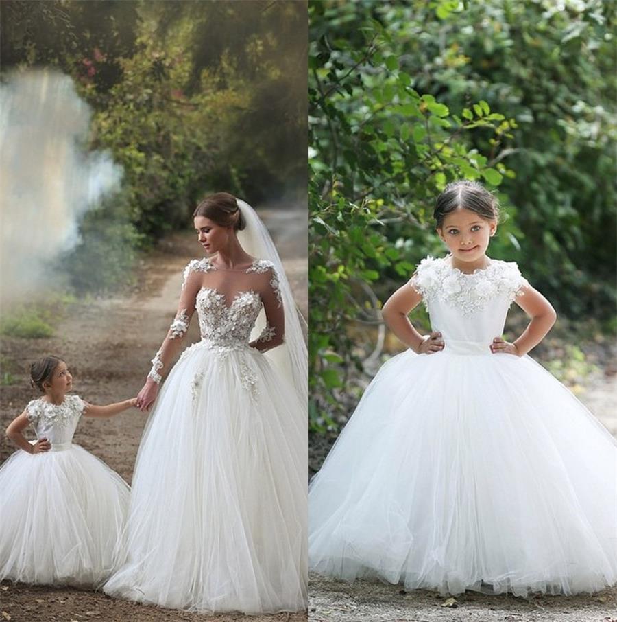 2015 ball gown flower girls dresses for weddings first for Matching wedding and flower girl dresses