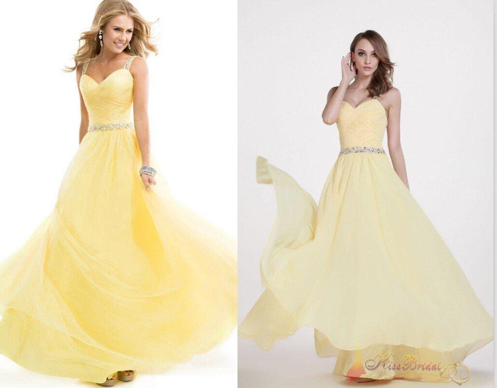 Yellow Mermaid Prom Dresses 2014 White Dress Light Yellow 2015