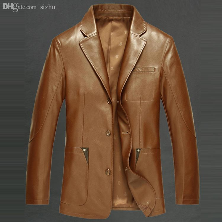 Fall-Hot Sale Men Leather Jacket Men Fashion Genuine Leather ...