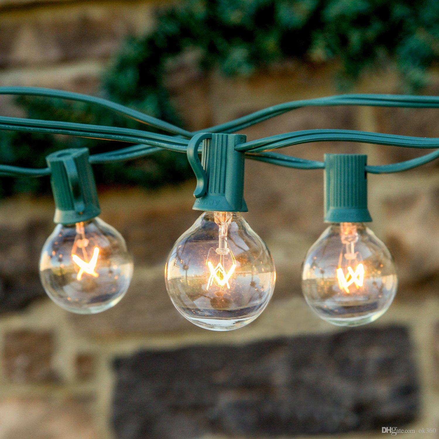 Good String Lights 25Ft Clear Globe Bulb G40 String Light Set With 25 G40 Bulbs  Included Patio Lightsu0026Patio String Lights G40 Bulb String Lamp