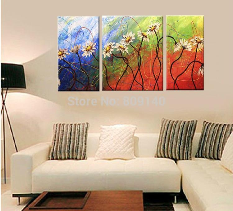 Artwork Abstract Flower Thick Oil On Canvas Painting Modern Home Office  Hotel Wall Art Decor Decoration Handmade Abstract Flower Oil Painitng Wall  Art ...