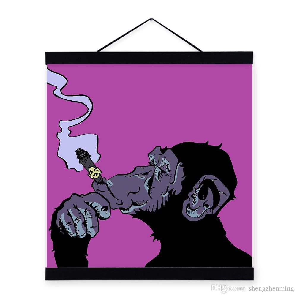 Cartoon Purple Gorilla Gorilla Chimpanzee Purple