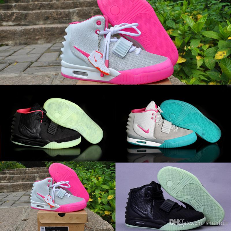 Womens Air Yeezys Black Grey Pink shoes