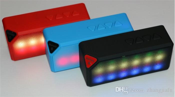 Colorful Bluetooth Speakers Mini Speaker X3s Colorful Led