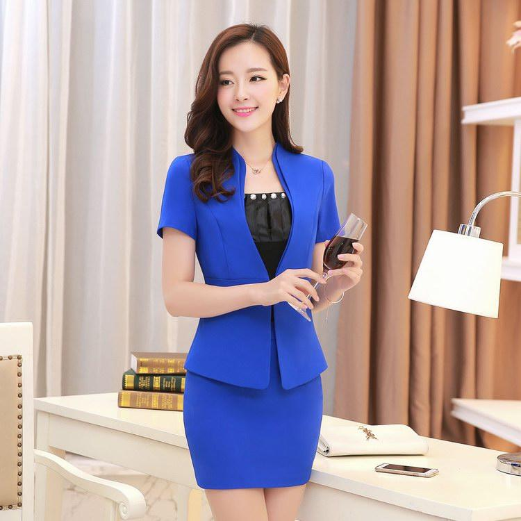 2017 High Quality Summer Style Women Business Suits Formal Office