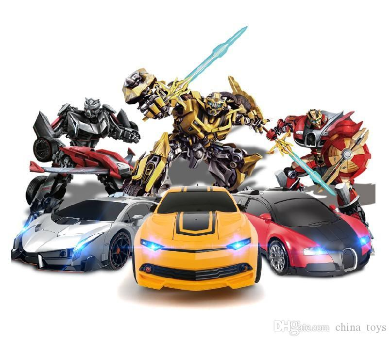 automatic deformation remote control car super race car electric toys rc car will be deformed kids