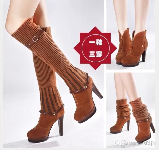 2015 Fashion Spring Autumn Boots Women Shoes High Heel Platform ...