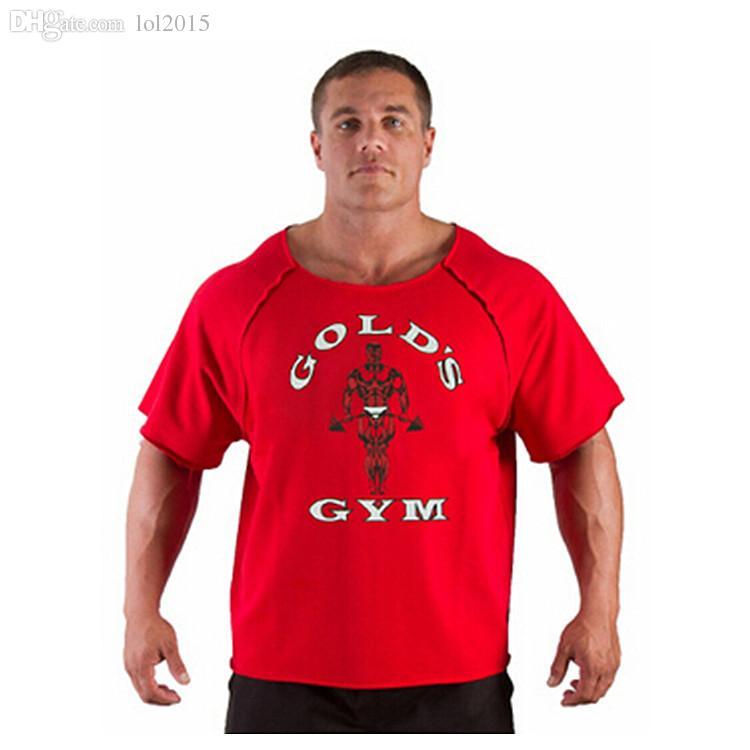 Wholesale fitness golds gym bodybuilding t shirt mens for T shirt rags bulk