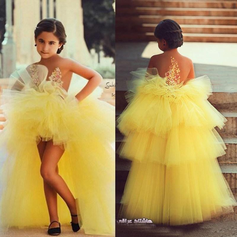 Unique Flower Girl'S Dresses 2016 High Low Tiers Sheer ...
