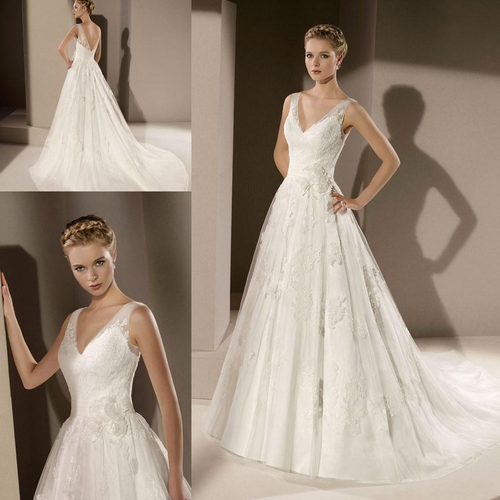 2015 elegant sheer wedding dresses v neck backless for Wedding dresses for under 300
