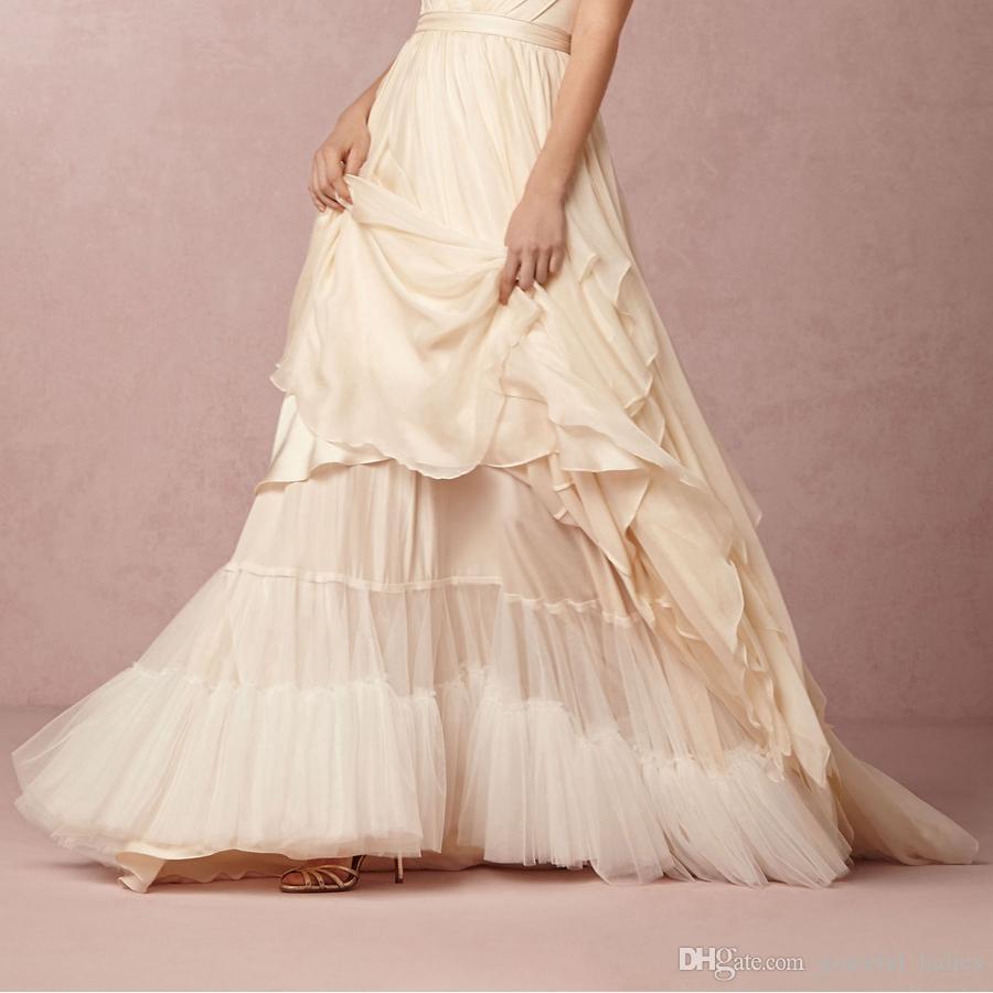 Cascada Wedding Petticoat Soft Tulle Floor Length Bridal Slip Skirt For A Line Wedding Dress