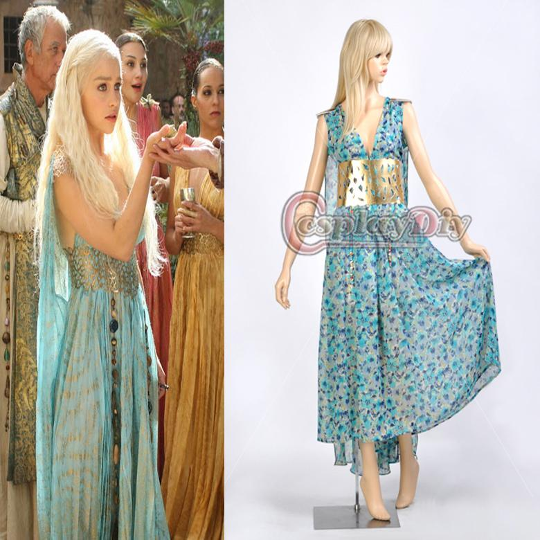Custom Made Game Of Thrones Daenerys Targaryen Cosplay Costume Prom Dress Wedding Dress Cosplay