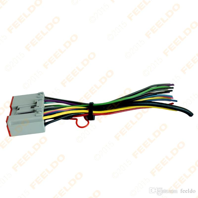feeldo car radio player wiring harness audio feeldo car radio player wiring harness audio stereo wire adapter auto radio wire harness at crackthecode.co