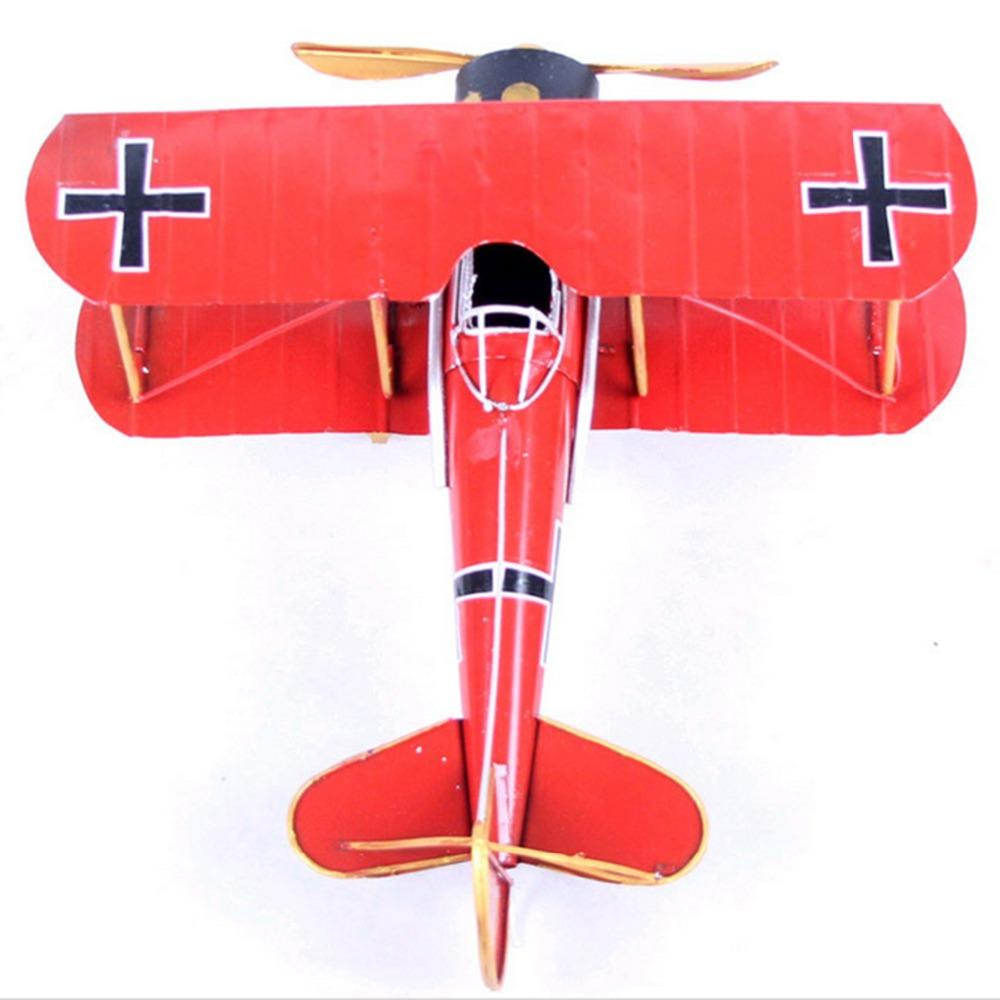 New Year Gift Vintage Home Decor Shabby Chic Antique Metal World War Ii Airplane Biplane Jet Model Home Decoration Metal Crafts Christmas Novelty Toys
