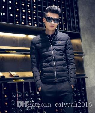 2017 2016 Winter Thick New Men Slim Down Jacket Long Sleeve Stand