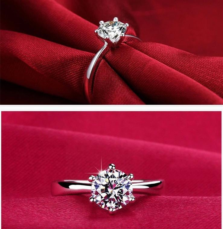 line Cheap 1kt 6mm Cz Diamond Wedding Austria Crystal Rings For Women Aaa 9