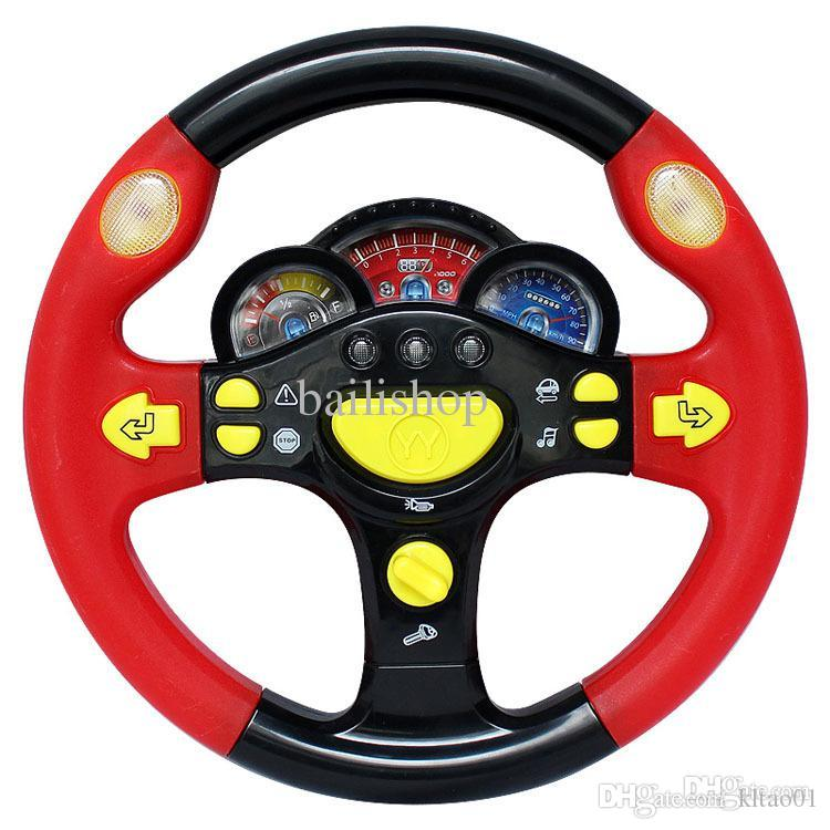 child the base steering wheel toy children light music toy car steering wheel kid parenting puzzle game from kltao01 2992 dhgatecom