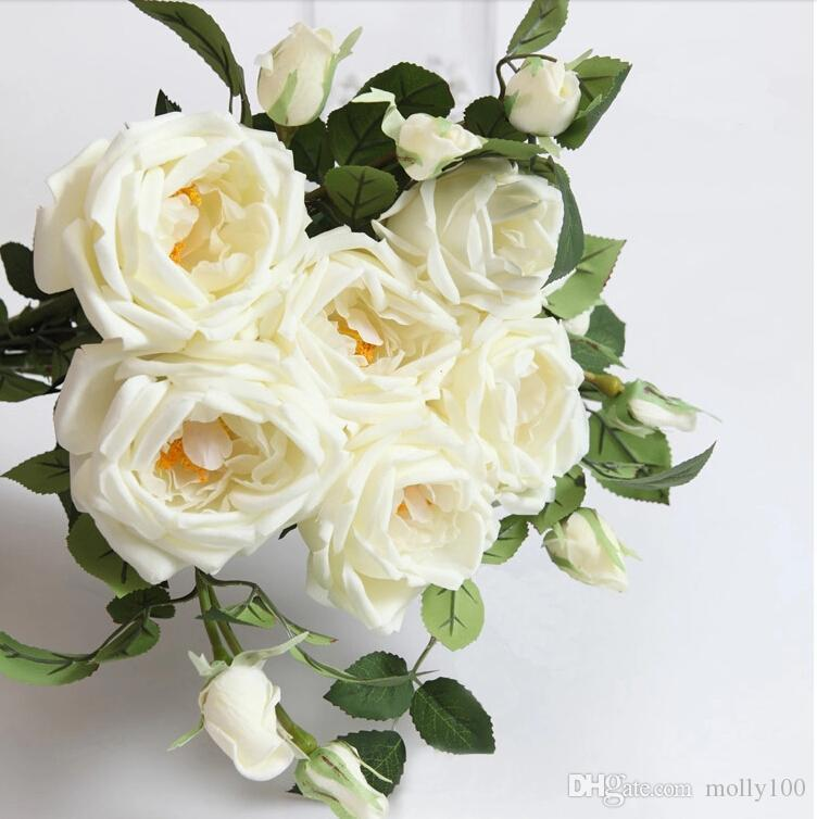 2017 68cmtall natural real touch flowers artificial roses for Natural rose colors