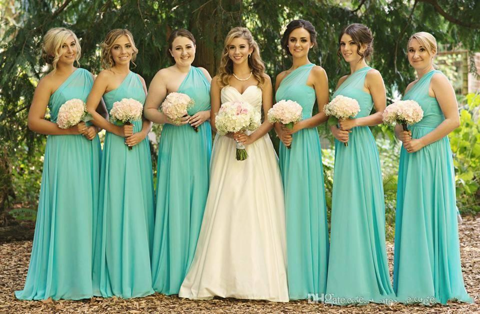 Custom Made Turquoise Bridesmaid Dresses Fat Women A Line One ...