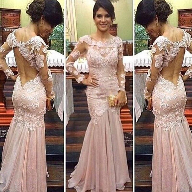 Backless celebrity prom dresses