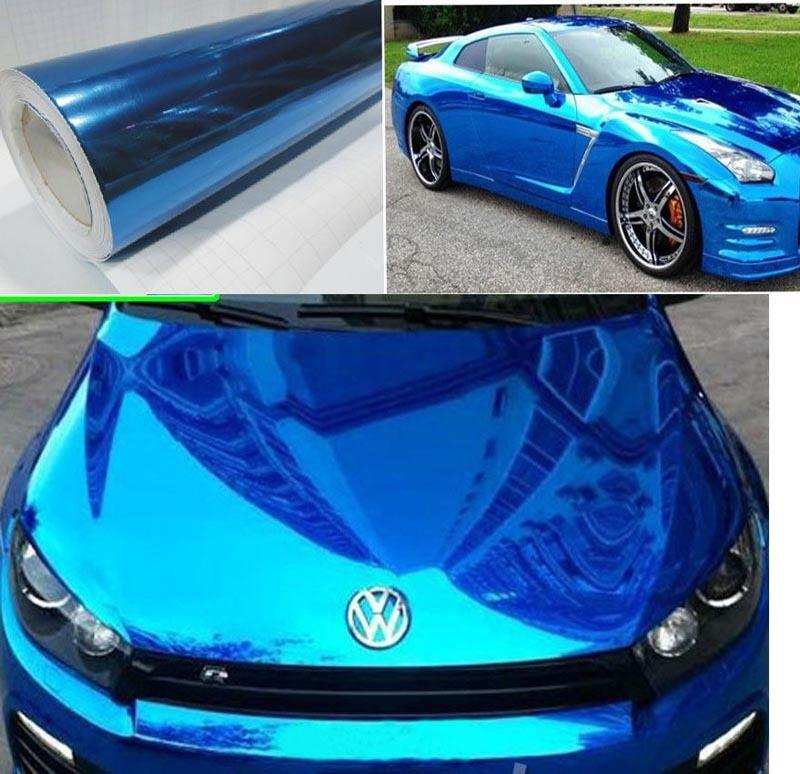 2019 12x60 Blue Carbon Fiber Vinyl Car Diy Wrap Roll Film