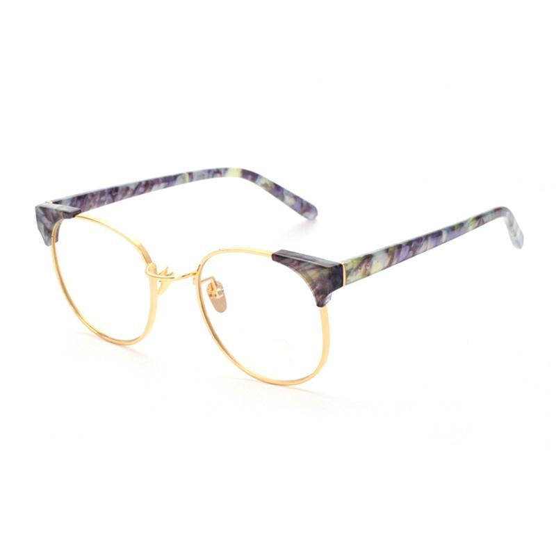 Vintage Gold Eyeglass Frames : 2016 Vintage Gold Frame Eyeglasses Frames Spectacle Frames ...