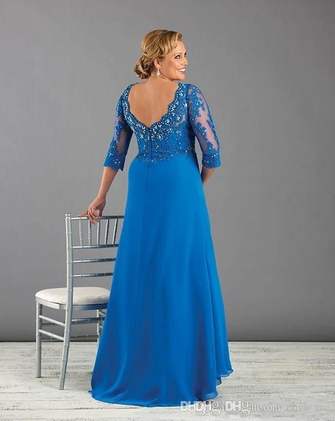 Turmec Plus Size Long Formal Dress With Sleeves