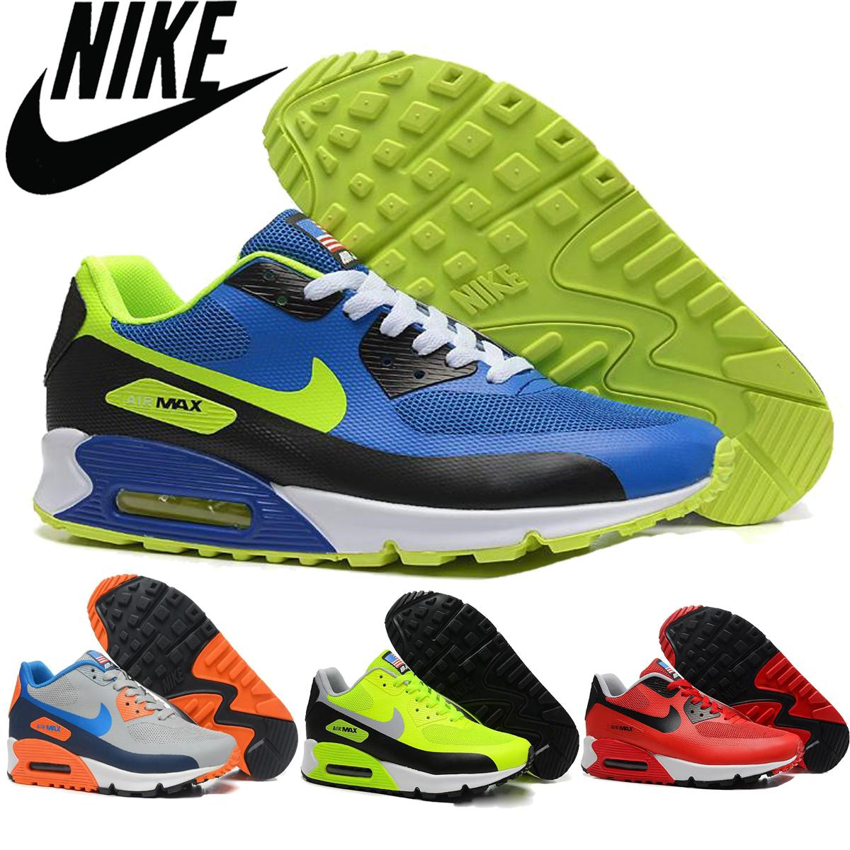 Nike Air Max 90 Usa Flag Shoes Men 2016 Original Classic Outdoor Athletic Shoe Airmax Gym