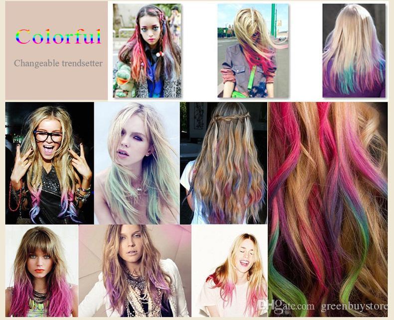24 couleurs mode pour cheveux craie fashion couleur cheveux craie colorant pastels temporaire des cheveux pastel - Coloration Craie Cheveux