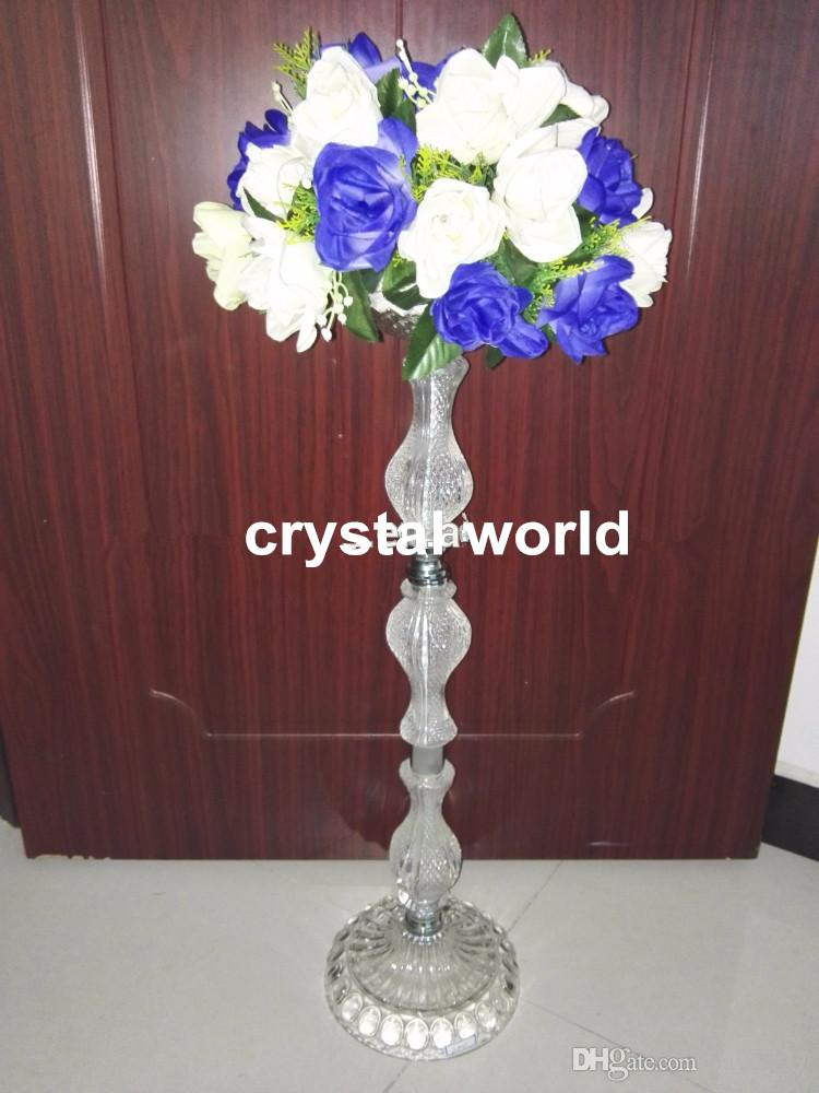 Flower stand tall wedding centerpieces crystal
