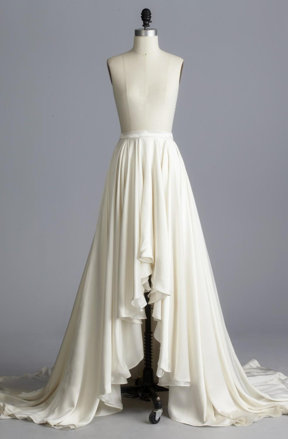 Discount 2015 detachable skirt dresses hi low a line with for High low wedding dresses for sale