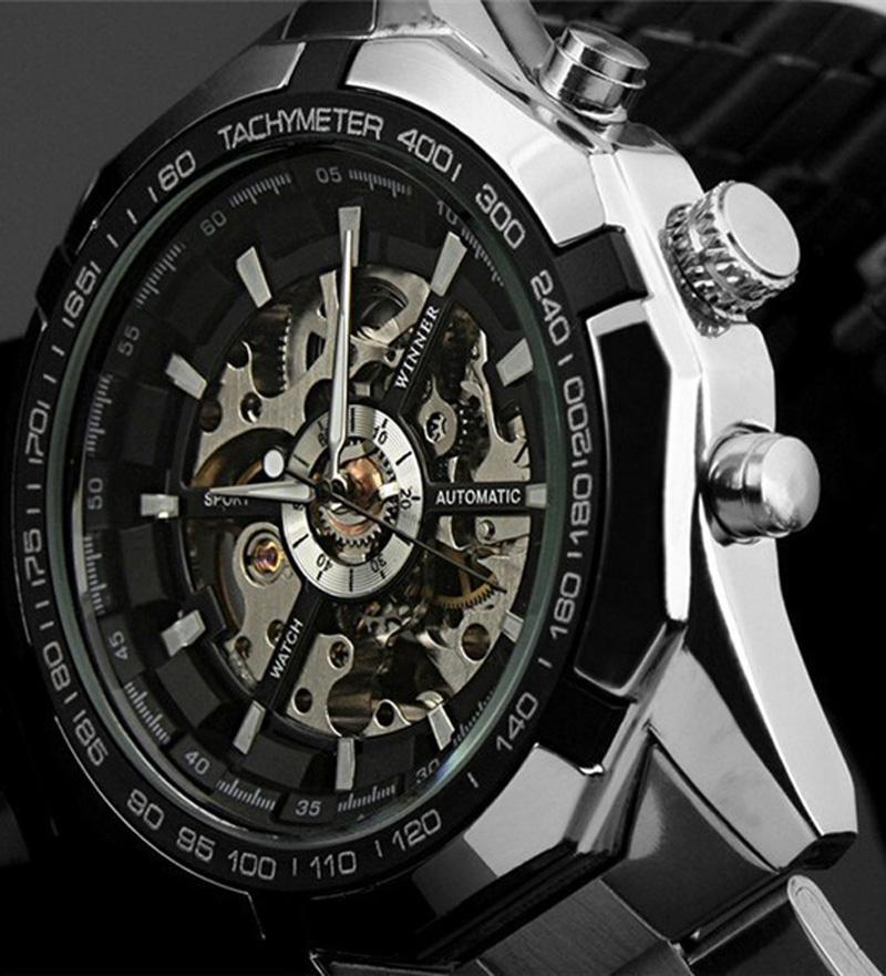 classic luxury winner mens transparent automatic skeleton classic luxury winner mens transparent automatic skeleton mechanical watches men brand military full steel relogio masculino skeleton watch men s watch