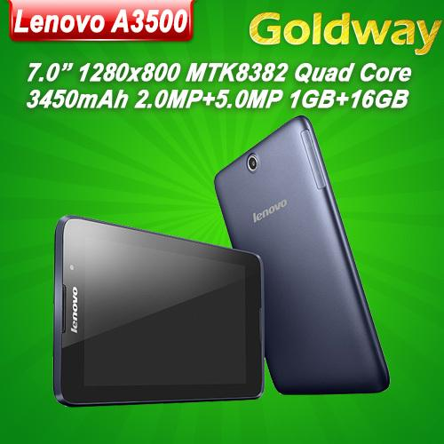 Origine 7 pouces Lenovo A3500 Quad Core WCDMA Tablet PC MTK8382 IPS 1280x800 1GB