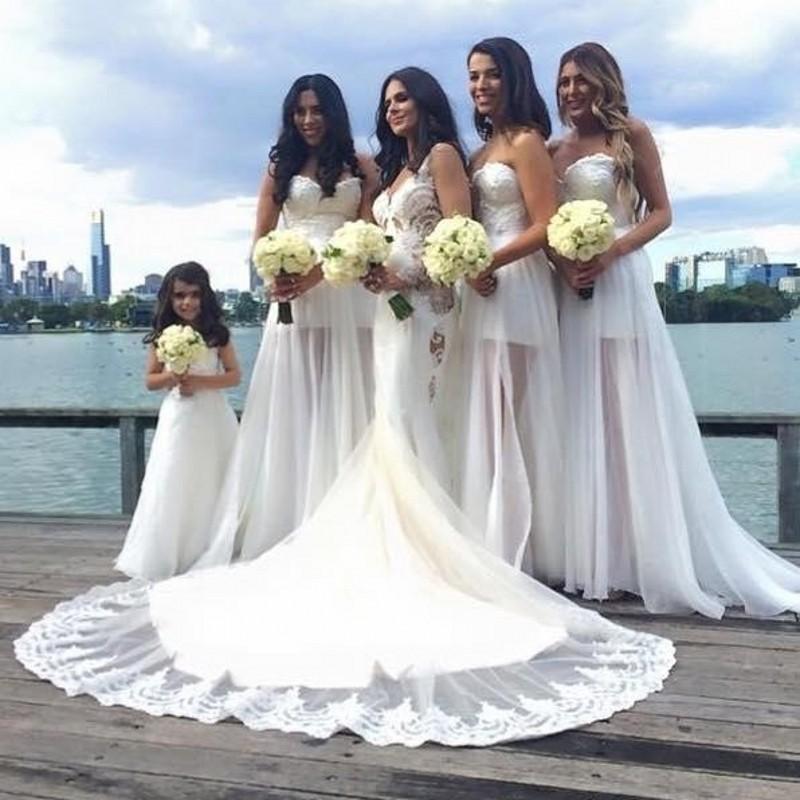 Elegant beach bridesmaid dresses 2016 new sexy white for Dhgate wedding dresses 2016