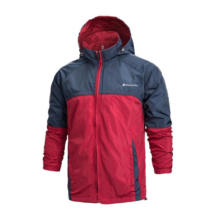 2015 Spring Mens Outdoor Sports Windbreaker Mesh Lining Hooded
