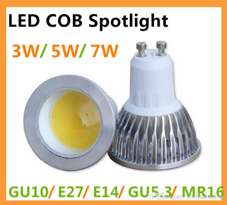 10xcree cob bombillas led lamp 220v gu10 mr16 lampada led - Ampoule gu5 3 led ...