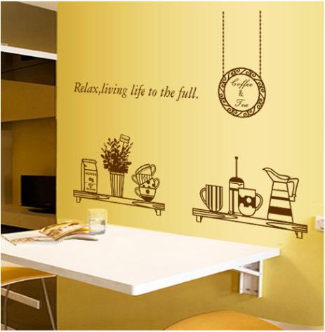 Restaurant Kitchen Living Room Bedroom Tv Background Wall Stickers Home Decor Stickers Quotes Waterproof Wallpaper Wall Decals