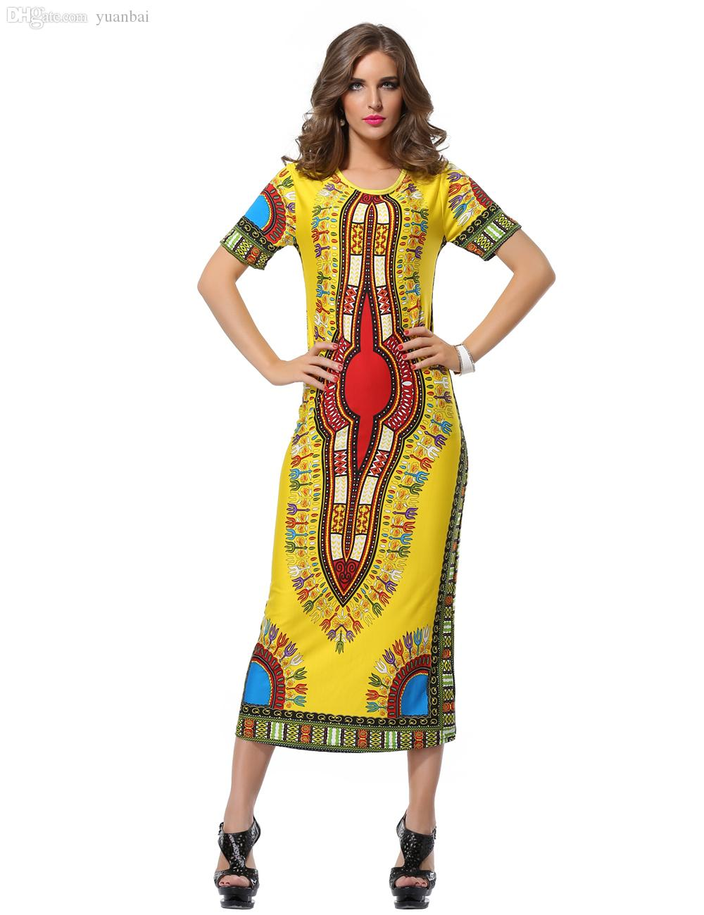 Wholesale Woman Summer Traditional African Fashion Beach Dress ...