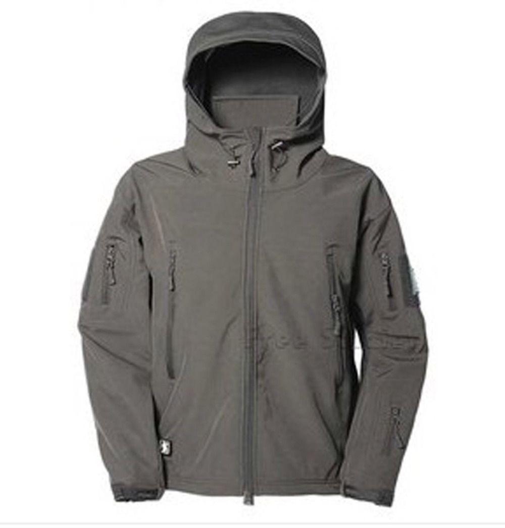 Fall Swat Airsoft Parka Jacket Waterproof Camo Winter Jacket Black ...