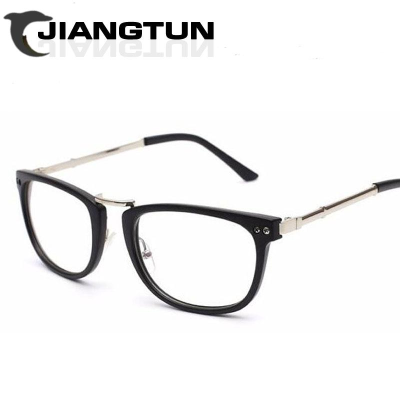 new plain glass cat eye optical eye glasses frames for women computer reading frame round pure