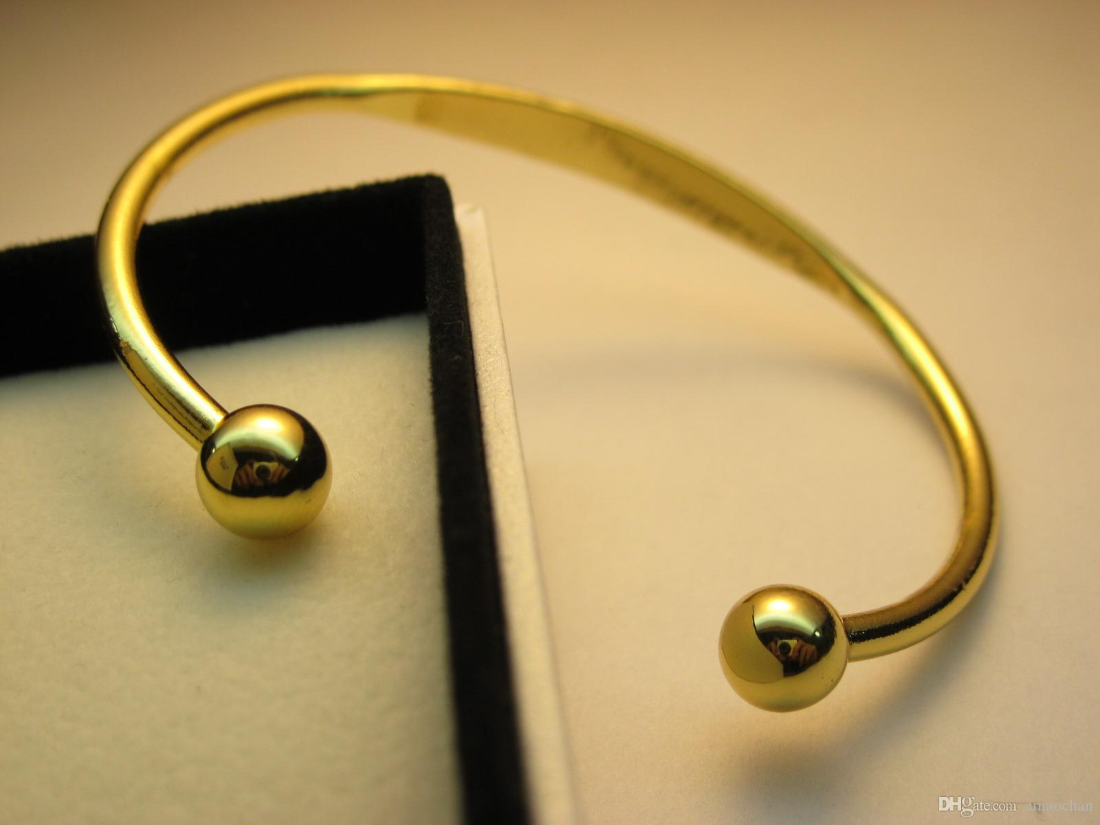 Gold Plated Magnetic Mens & Women Copper Bracelet Bangle Helps Arthritis  Pain Relief Flat B02