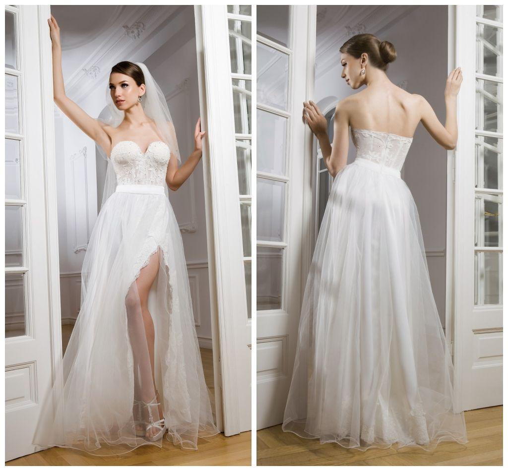 Discount first lady beach sexy corset bodice high leg slit for Sexy corset wedding dress