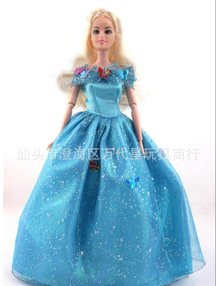 Fairy tales cartoon toys cinderella 2015 barbie doll with for Barbie cenerentola