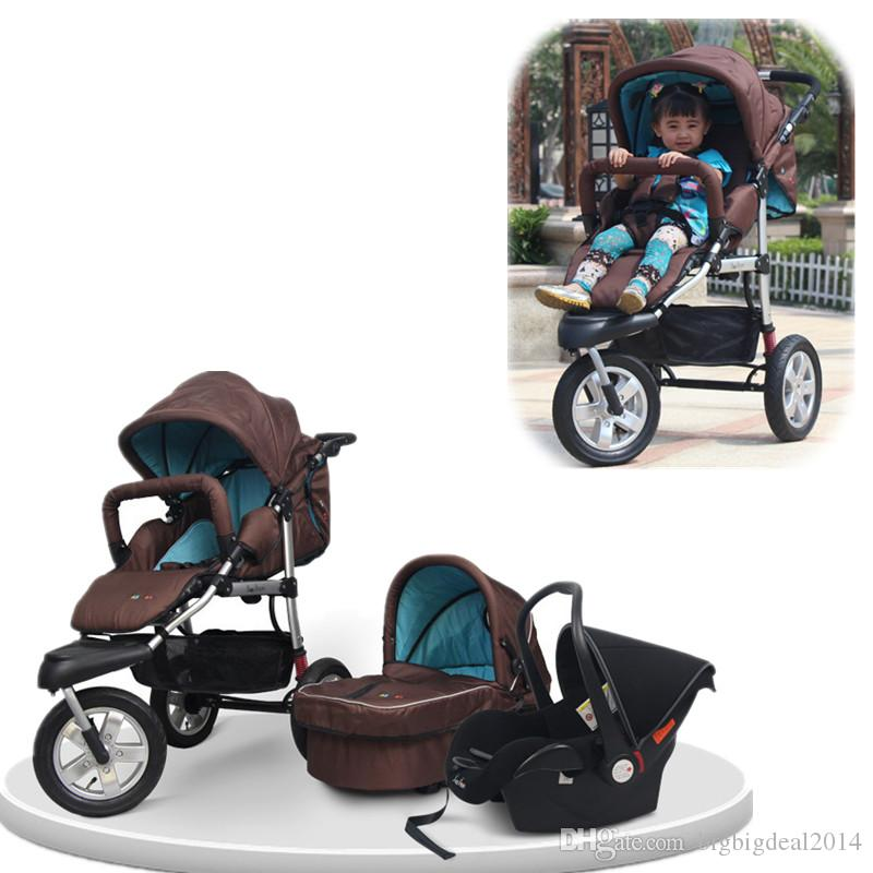 2017 Baby Stroller 3 In 1 Car Seat Infant Lightweight Folding ...