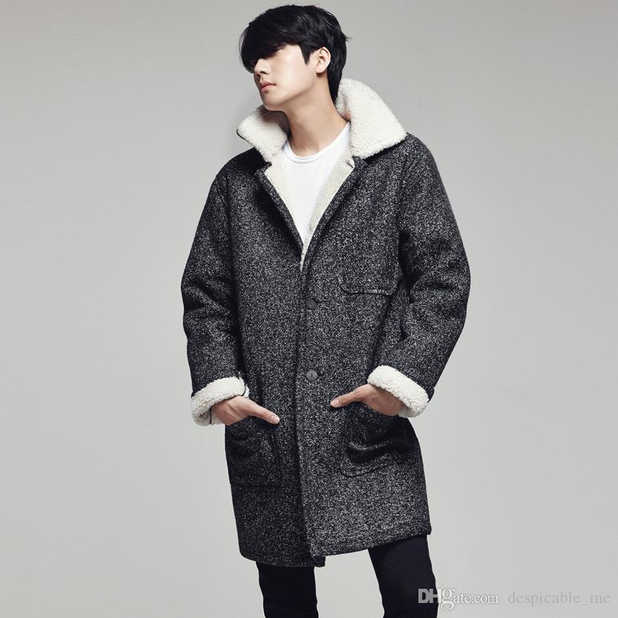 Best 2016men Casual Long Pea Coats Men Cashmere Overcoats For Men ...