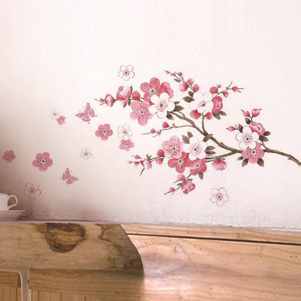 sakura flower wall stickers home decorations living room pvc see larger image
