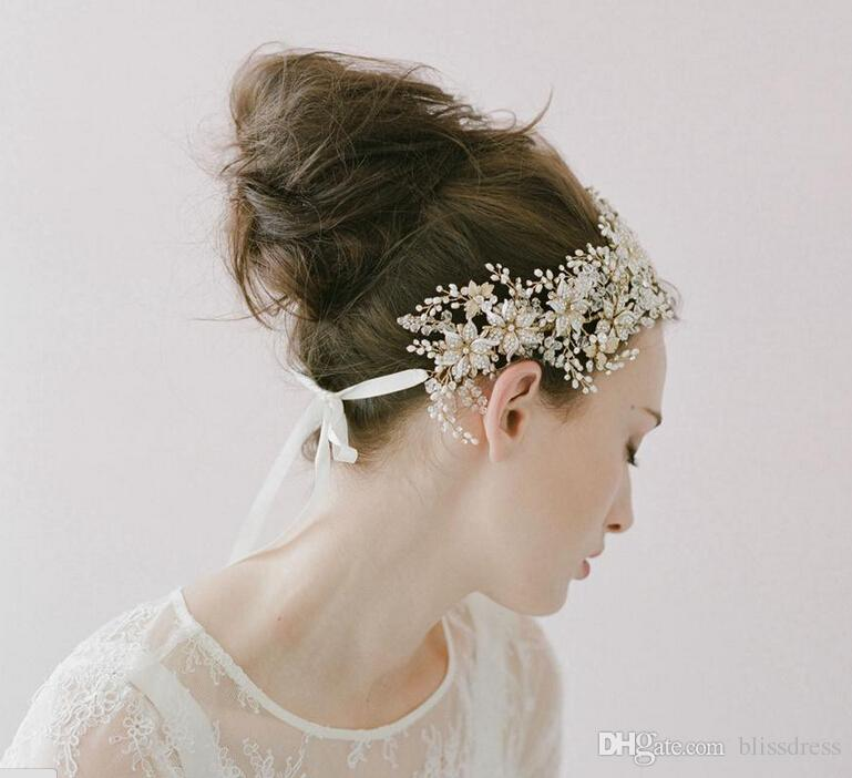 wedding hair flower enamel