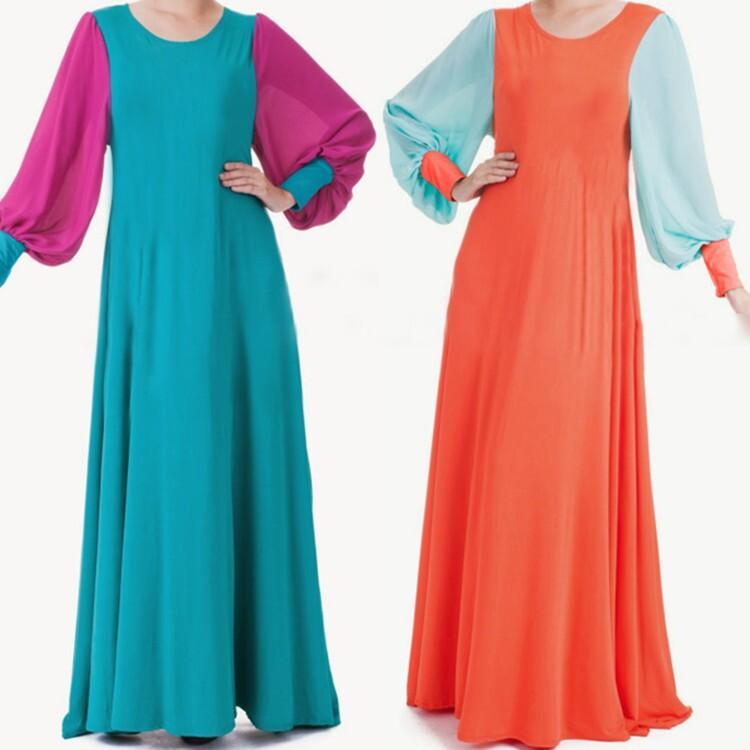 Women Muslim Islamic Dress Summer Chiffon Muslim Women Long Sleeve ...