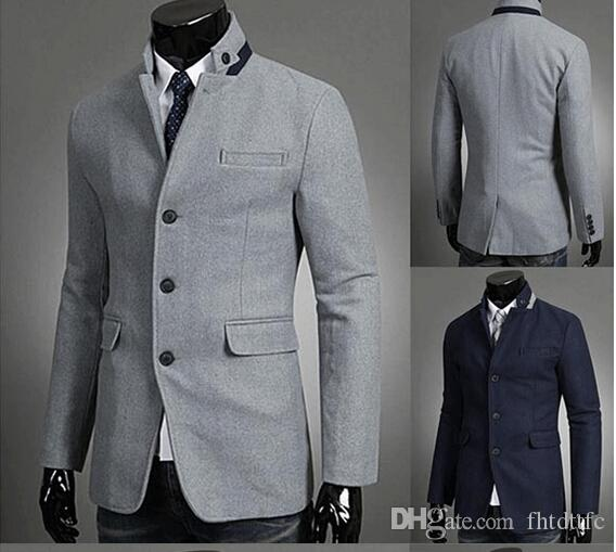 Hot Sale Fashion Men Suit Jacket Thin Body Type Single-breasted ...